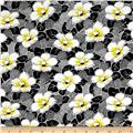Fiona Flower & Leaves Black