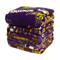 Three Pound NFL Fleece Remnant Bundle Minnesota Vikings