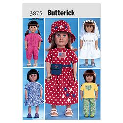 "Butterick 18"" (46cm) Doll Clothes Pattern B3875 Size OSZ"