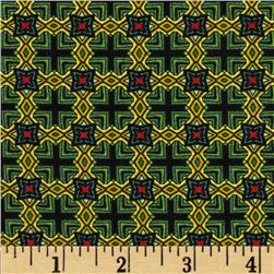 Star of Hope Marquis Diamond Green/Red Fabric