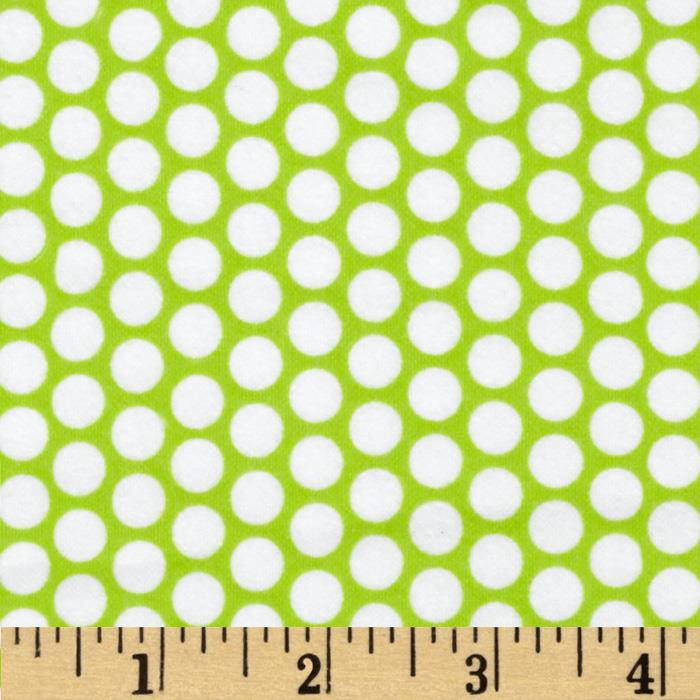 Riley Blake Flannel Honeycomb Dot Lime