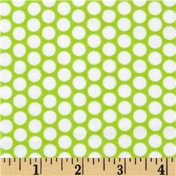 Riley Blake Flannel Honeycomb Dot Lime Fabric
