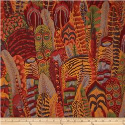 Kaffe Fassett Collective Feathers Brown Fabric