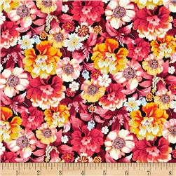 Shimmery Bouquets Medium Floral Multi Fabric