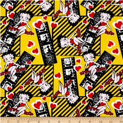 Betty Boop Filmstrips Yellow Fabric