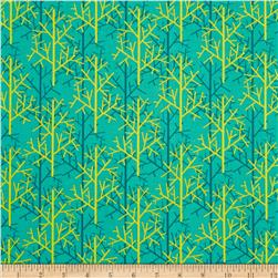 Michael Miller Birds of a Feather Twigs Teal