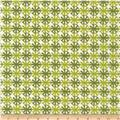 Kaufman Digitally Printed Stretch Poplin Geo Plaid Parsley
