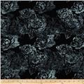 Bali Batiks Handpaints Large Floral Blacklight