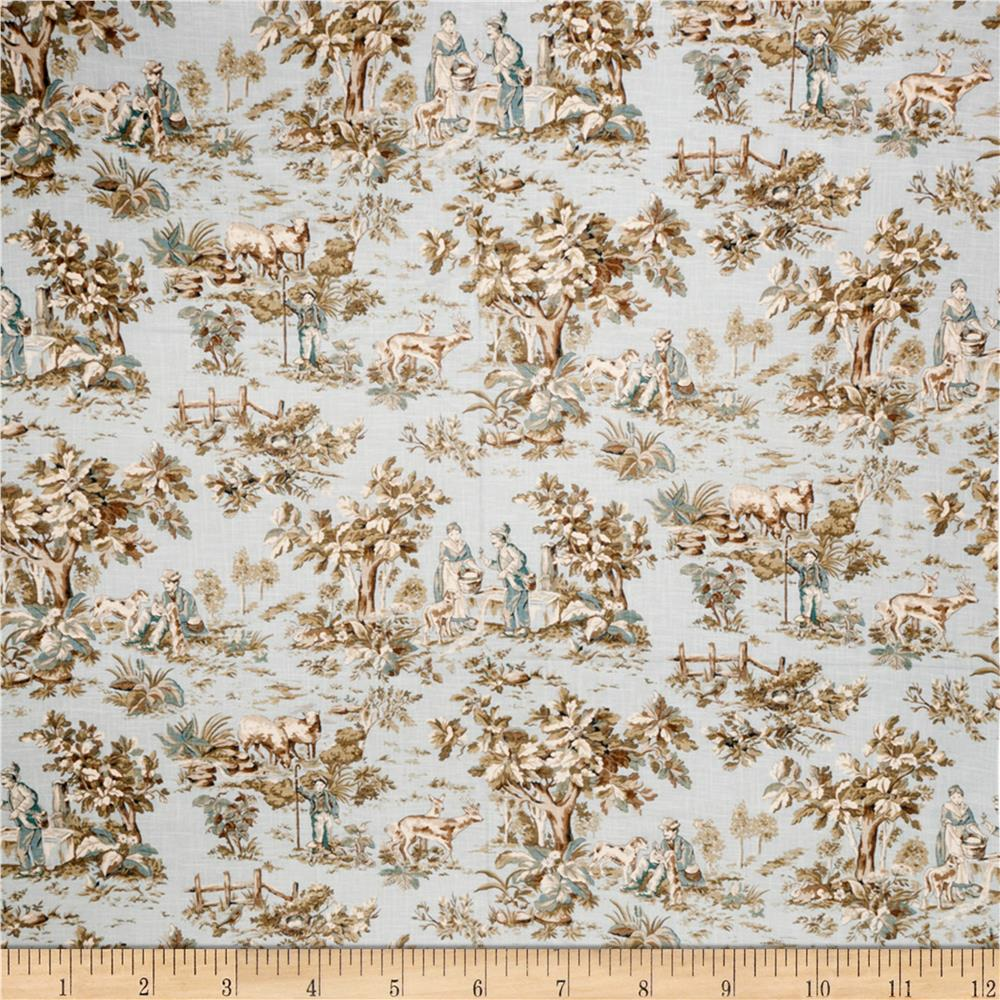Jaclyn Smith Toile 02099 Blend Robin's Egg