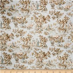 Jaclyn Smith Toile Blend Robin's Egg