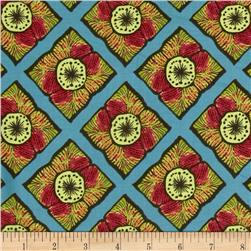 Caiman Rift Turquoise Fabric