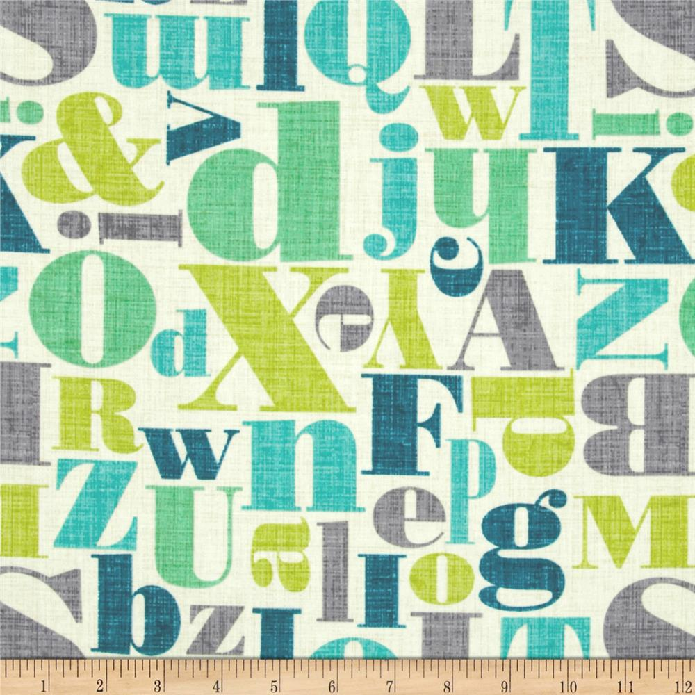 Michael Miller Just My Type Letterpress Breeze