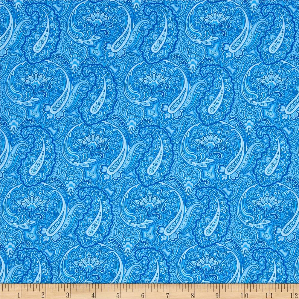 Let Freedom Ring Allover Paisley Royal Blue