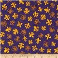 Fleur De Lis Yellow on Purple