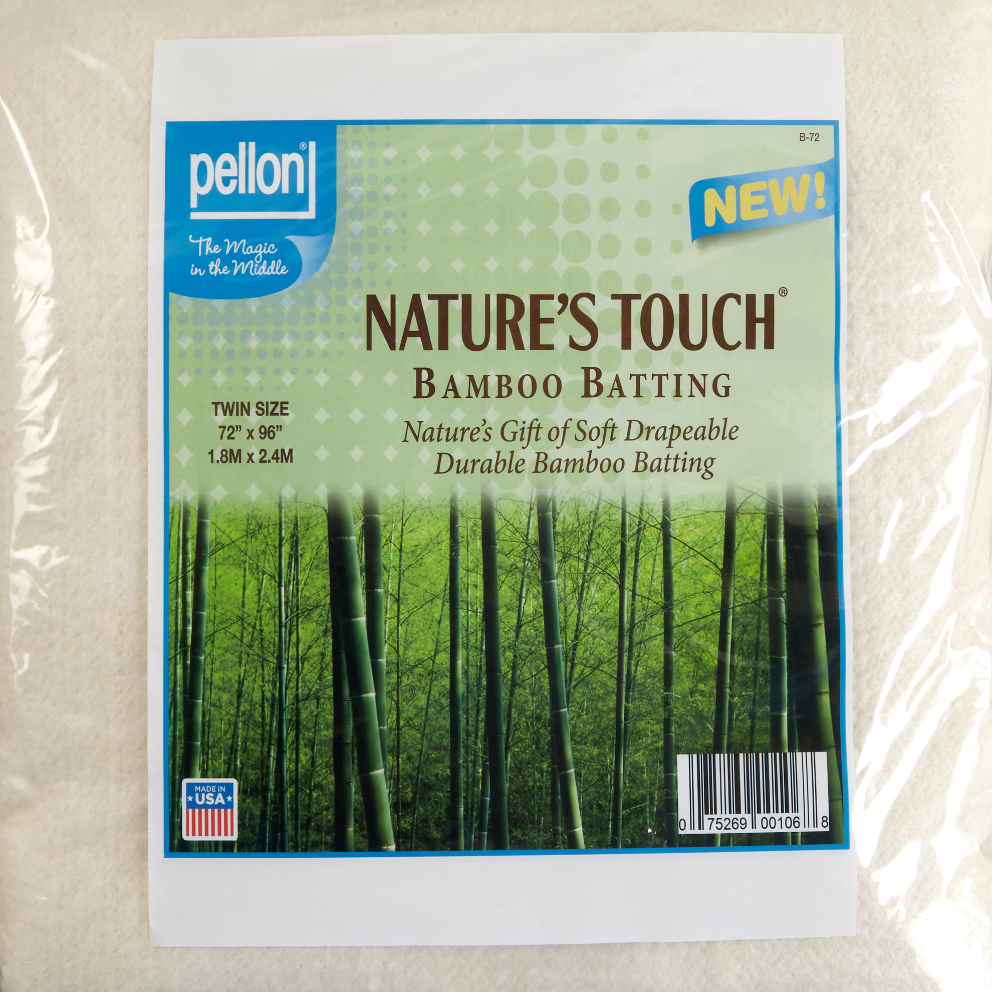 Pellon Bamboo Batting Twin 72'' X 96'' by PCP in USA