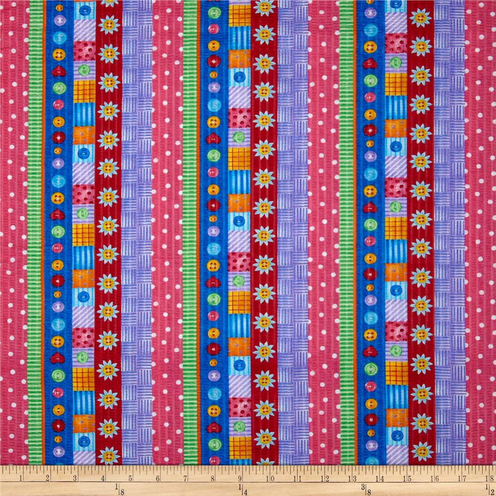 Tutti Frutti Plisse Stripes Multi