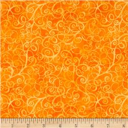 Timeless Treasures Breeze Scroll Blender Orange