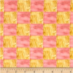 Every Living Thing Checkerboard Yellow/Dark Pink
