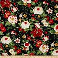 Crimson & Holly Large Floral Black