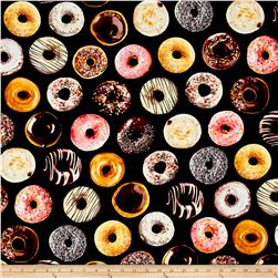 Timeless Treasures Foodie Mixed Donuts Donut