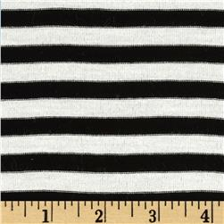 Designer Stretch Yarn Dyed Jersey Knit Stripes Black/White
