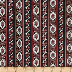 Border Companions Oval Border Blue/Red Fabric