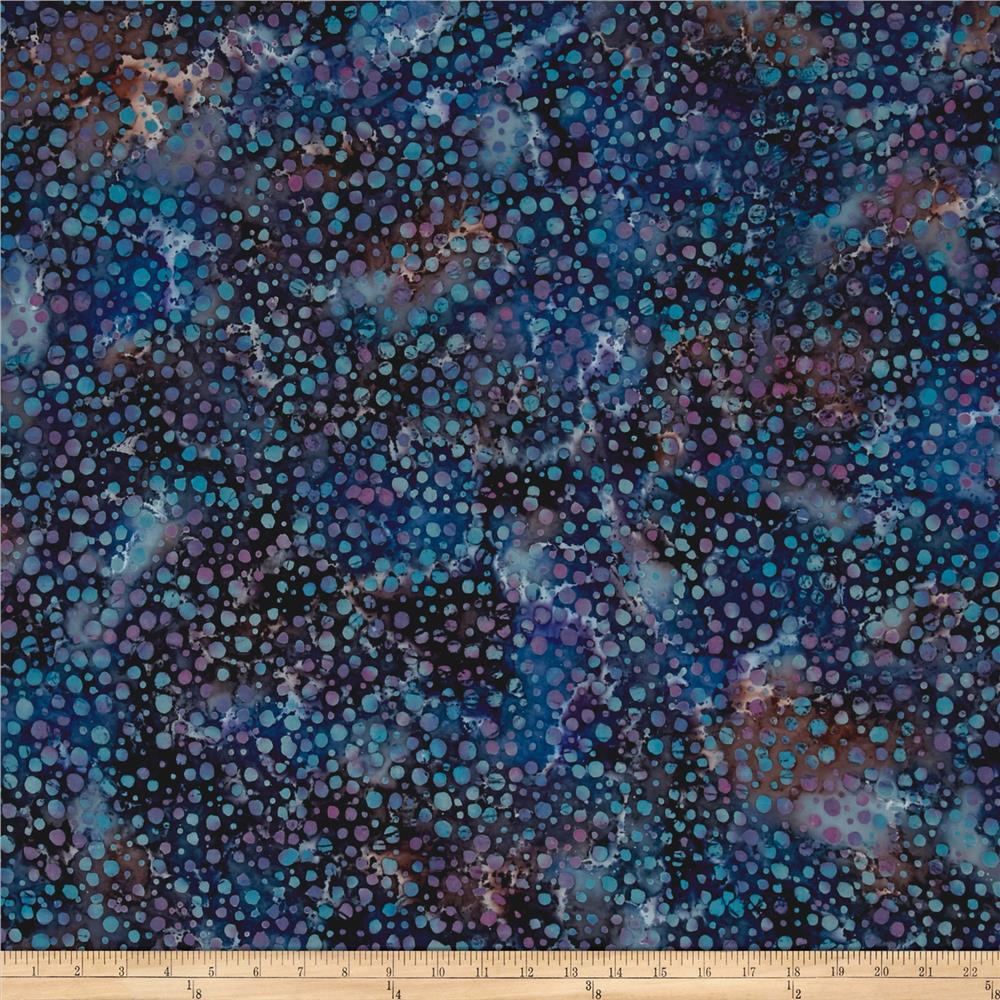 Indian Batik Gypsy Dot Blue Multi