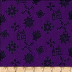 Almost Amish Guilt Black Toss Purple
