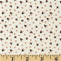 Mary Fons Small Wonders China Ditsy Triangle Cream