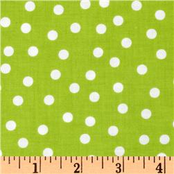 Remix Polka Dots Lime Fabric