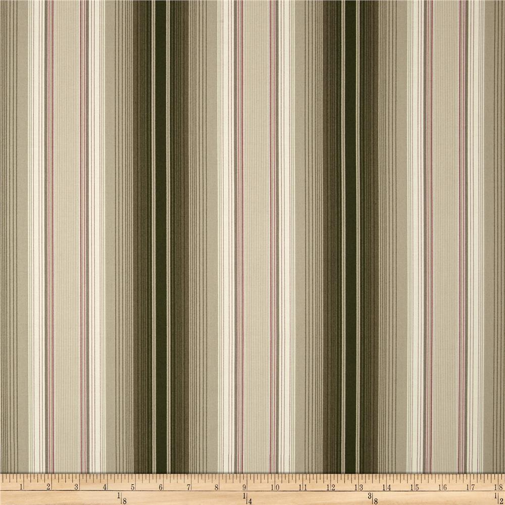 Imperial Stripe Olive Green