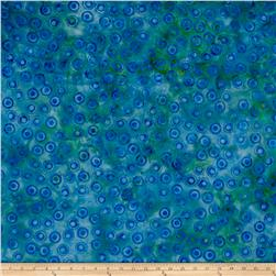 Island Batik Lavish Circles Green/Blue