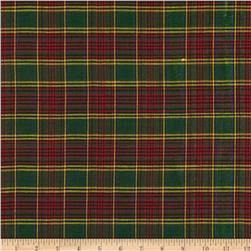 Holiday Blitz Plaid Green/Blue Fabric