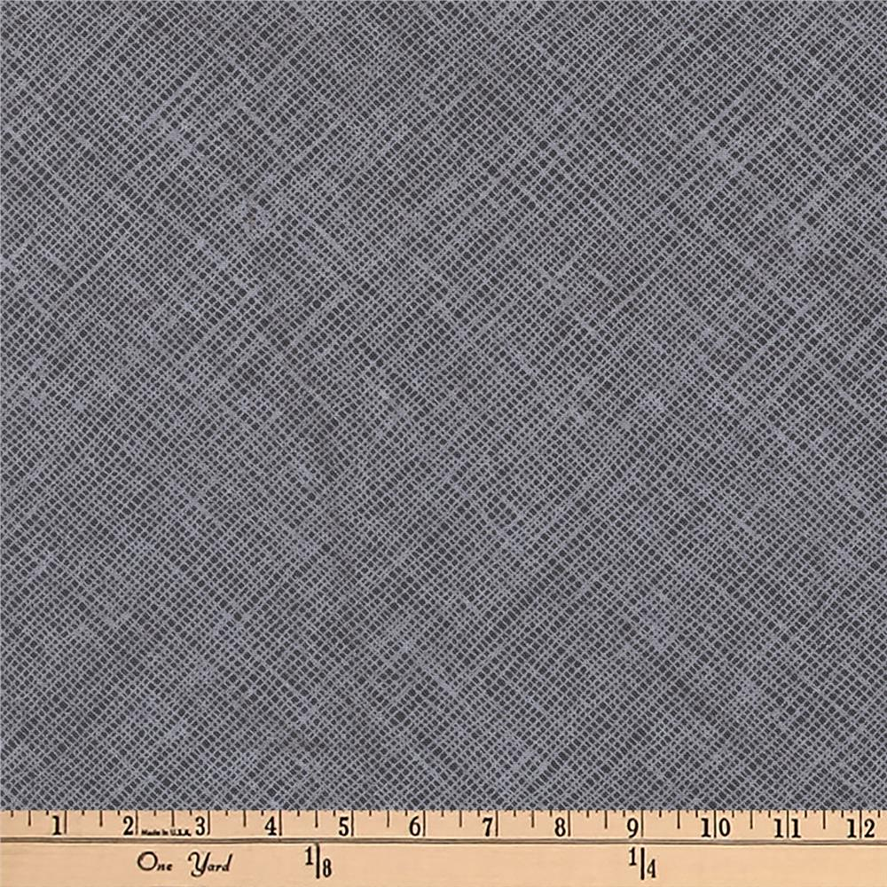 Kaufman Architextures Diagonal Grid Charcoal