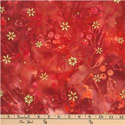 Kaufman Batiks Metallic Northwood Cardinals Cardinal