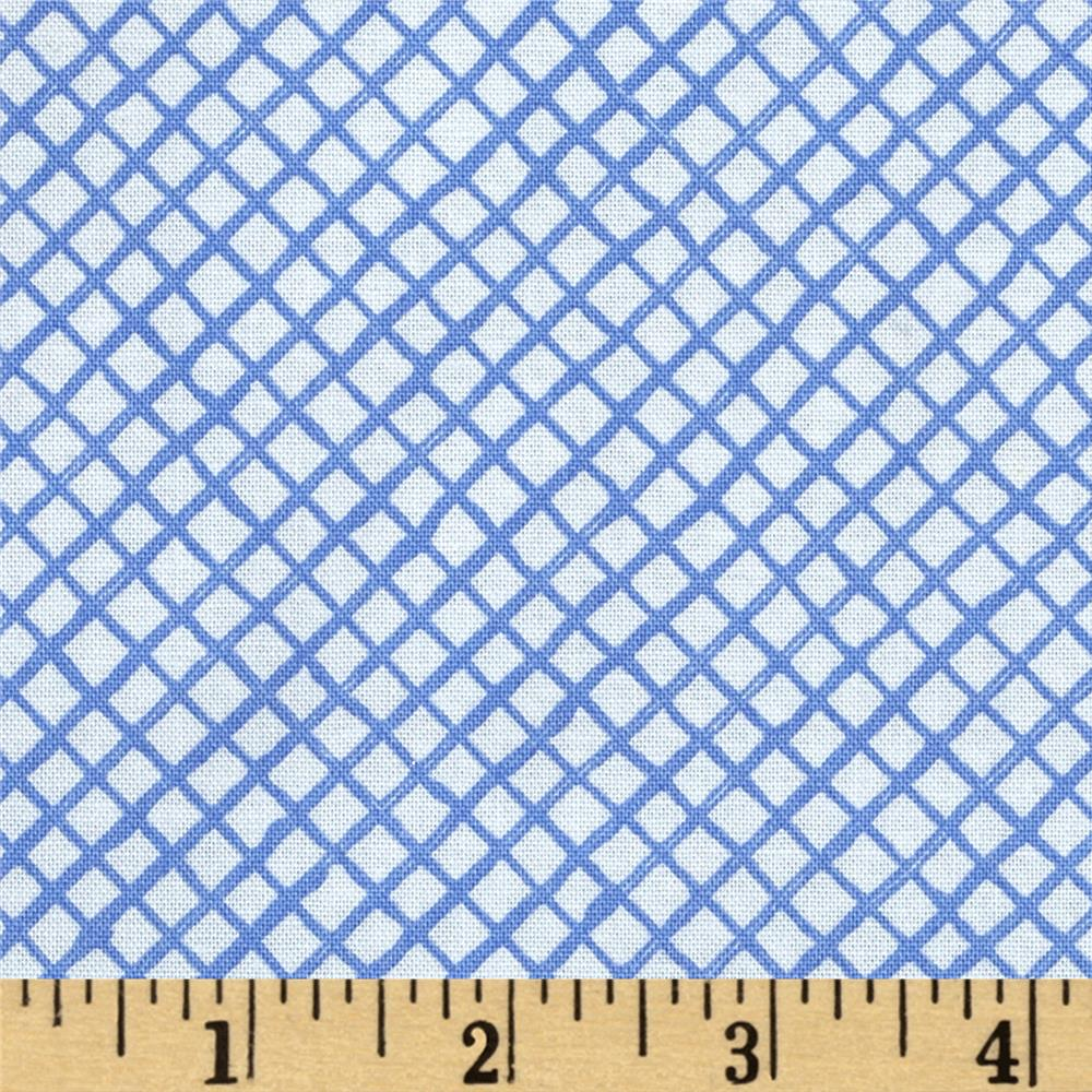 Flora Bleu Trellis Medium Blue