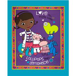 Disney Doc McStuffins Lollipops & Lemonade Panel Purple