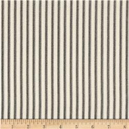 Magnolia Home Fashions Berlin Ticking Stripe Black