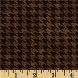 Alpine Woods Alpine Houndstooth Brown Fabric