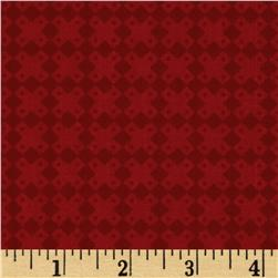 Moda Midwinter Reds Geometric Red