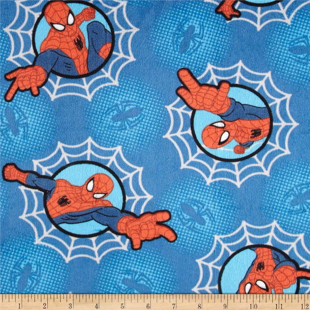 Marvel Comics Minky Spiderman In Webs Blue