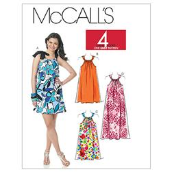 McCall's Misses' Dresses In 3 Lengths Pattern M6115 Size A50