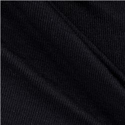 Baby Rib Lightweight Knit Black
