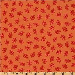 Michael Miller Nordic Holiday Holly Folly Orange Fabric