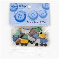 Dress It Up Embellishment Buttons Button Fun Trucks