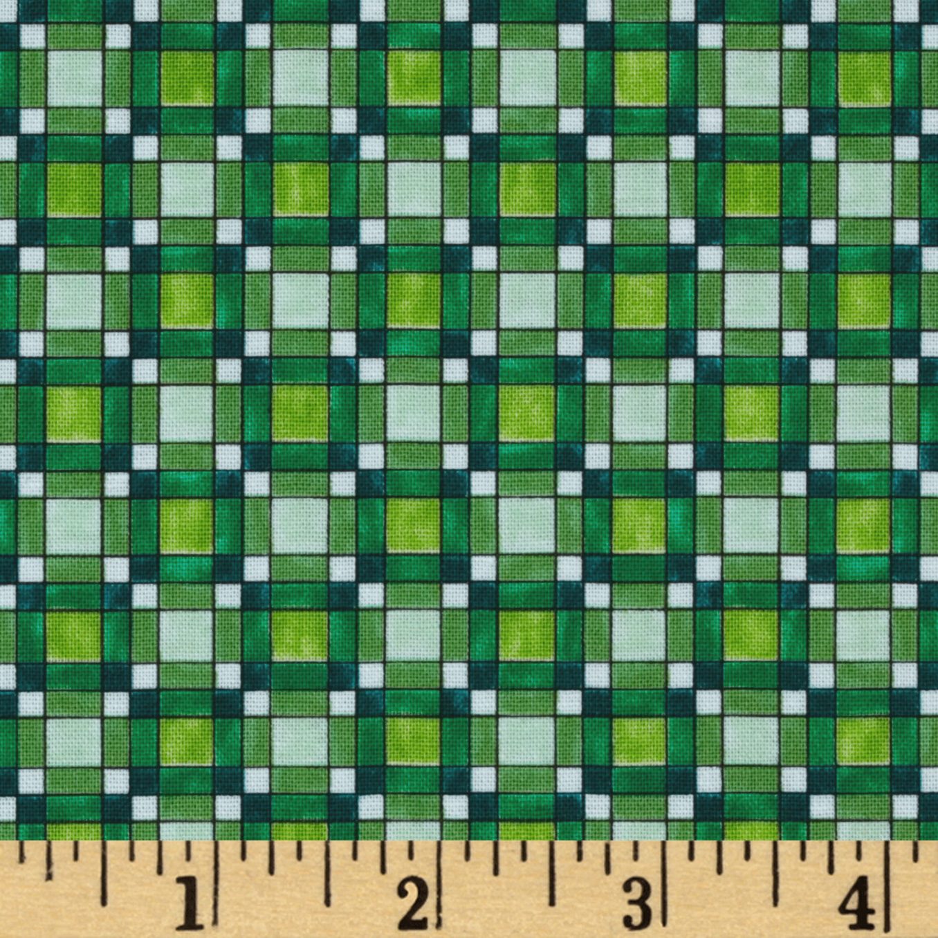 Paradise Check Green Fabric