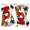 "Sew & Go Metallic Santa Stocking 35.5"" Panel Multi"
