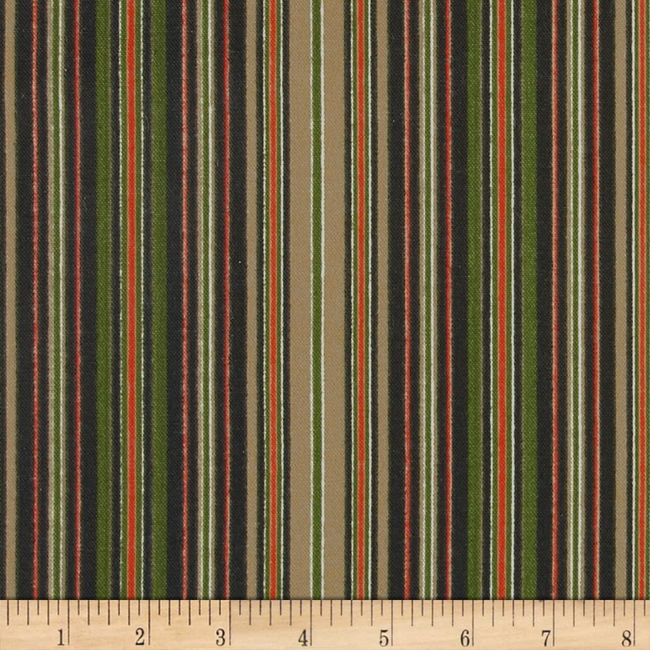 Ansley Home Decor Cotton Duck Stripe Black Multi