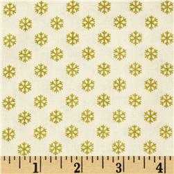 Christmas 2014 Metallic Coordinates Snowflake Cream