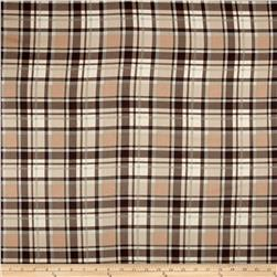 Timeless Treasures Oxford Flannel Textured Plaid Natural